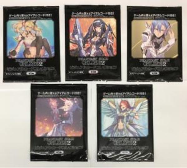 ファンタシースターオンライン2 PSO2 アイテムシリアルコード付き ビジュアルカードコレクション全5種セット セブンイレブン限定 送料205円|PSO2