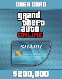 グランドセフトオートオンライン(GTA)-PS4 GTA5 グランドセフトオート5 特典コード タイガーシャーク マネーカード $200,000