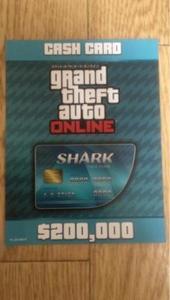グランドセフトオートオンライン(GTA)-PS4 GTA5 グランドセフトオート5 オンライン 20万ドル マネー コード