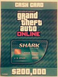 グランドセフトオートオンライン(GTA)-GTA5☆グランド・セフト・オートV タイガーシャークマネー20万ドル 20万$ コードのみ