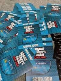 グランドセフトオートオンライン(GTA)-GTA5 グランド・セフト・オートV タイガーシャークマネー20万ドルx45枚=900万ドル 郵送【送料無料】
