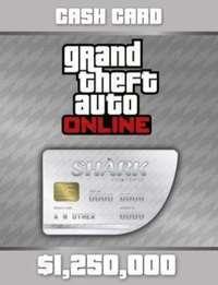 グランドセフトオートオンライン(GTA)-Xbox One GTA5 グランドセフトオート5 ホワイトシャーク 125万ドル マネーカード ナビ通知