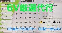6V厳選代行|ポケットモンスターソード・シールド(ポケモン剣盾)
