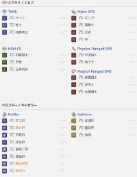 FF14 オール70レベル ファイナルファンタジー14(FF14)