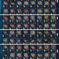 引退アカウント(コラボコンプ、スレイオーバーレイ、虹魔鏡64種) テイルズオブザレイズ