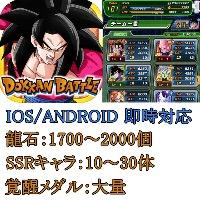 2垢セット、龍石1700~2000+SSRキャラ10~30体+覚醒メダル大量 IOS/Android ドッカンバトル