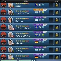 ウイクラ スーパースターdiv4  チケット大量  星7=44人 星6=150人|ウイイレクラブマネージャー(ウイクラ)
