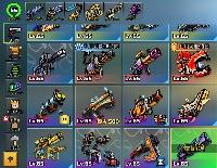 格安 クラン武器コンプリート、武器多数、ios|Pixel Gun 3D(ピクセルガン3D)