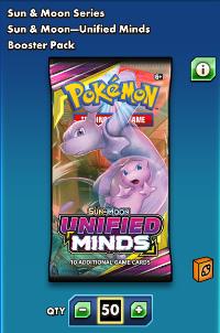 PTCGO Unified Minds 50+1パック|ポケモンTCGオンライン(PTCGO)