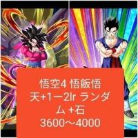 LR悟飯&悟天+ LR4悟空+ ご飯ご天+1~2LRランダム+3600~4000個 端末 IOS |ドッカンバトル