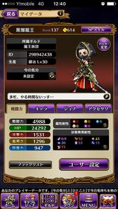 ランク138SS多数 黒騎士と白の魔王