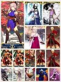 星五体4体 宮本武蔵 沖田総司 アーサー ペンドラゴン アルジュナ |FGO(Fate/Grand Order)